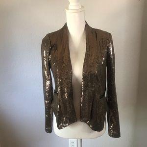 Forever 21 Brown Sequin Blazer Jacket